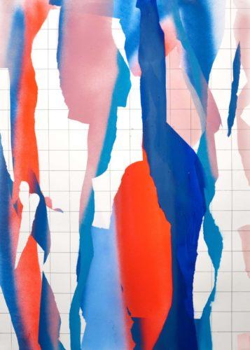 Op. 071119. acrylic on paper, 105x75cm, 2019