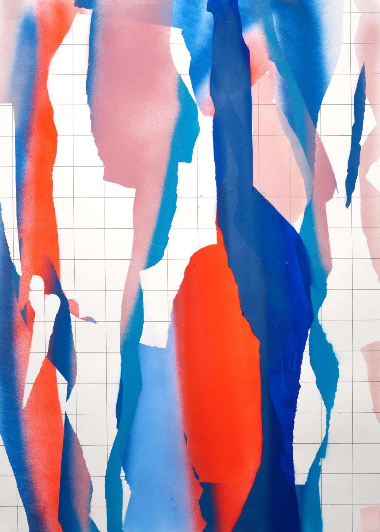 Op.071119. acrylic on paper, 105x75cm