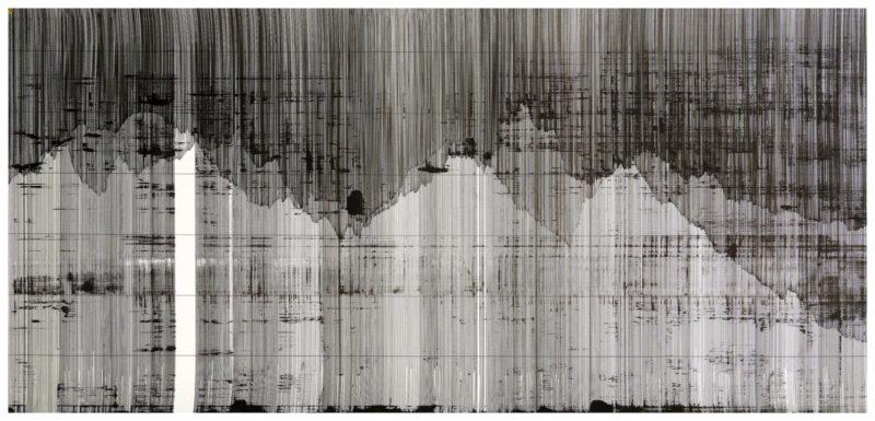 Op. 060119. ink on paper, 69 x 150 cm, 2019