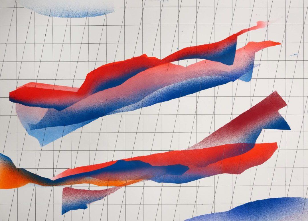 Op.131119 acrylic on paper, 105x75cm