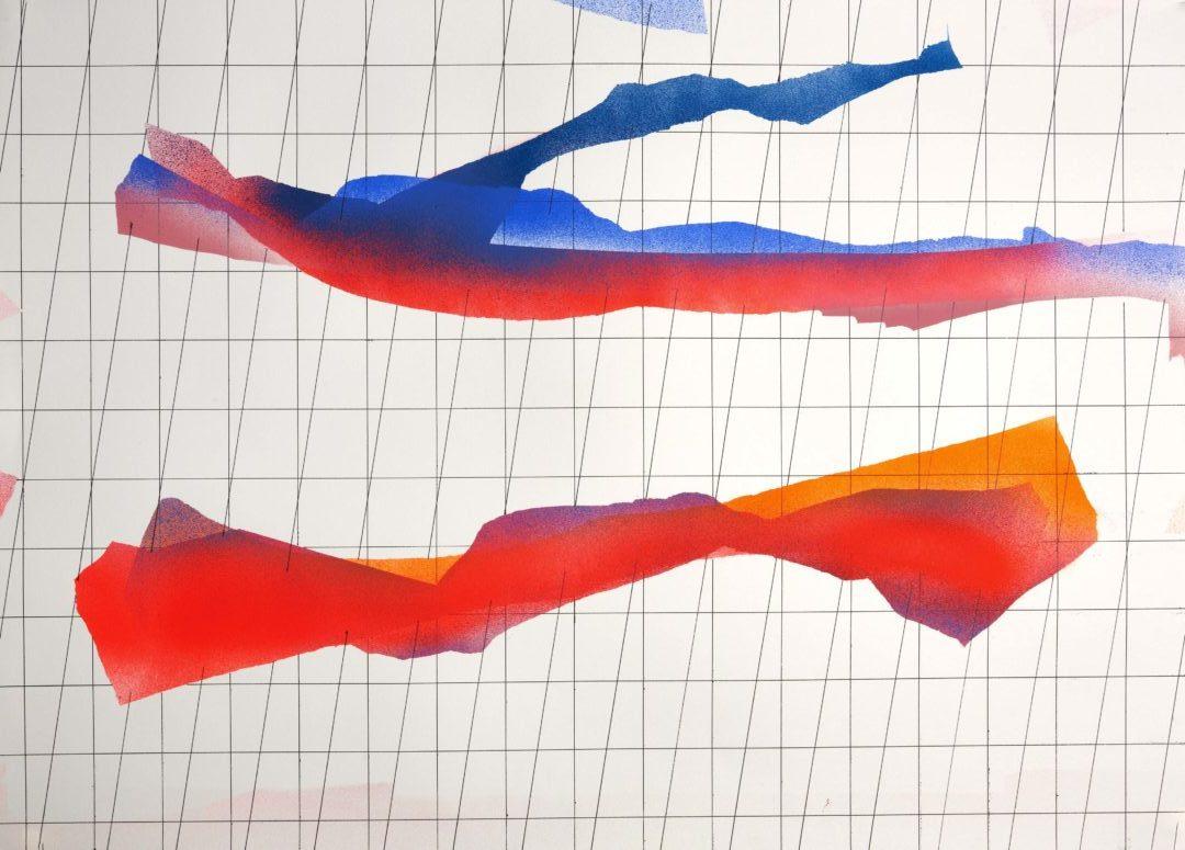 Op.141119 acrylic on paper, 105x75cm