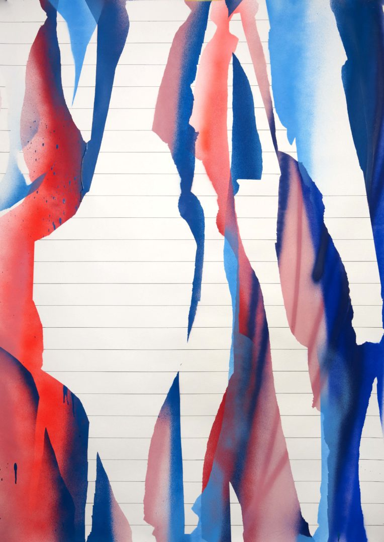 Op.221119. acrylic on paper, 150x107cm