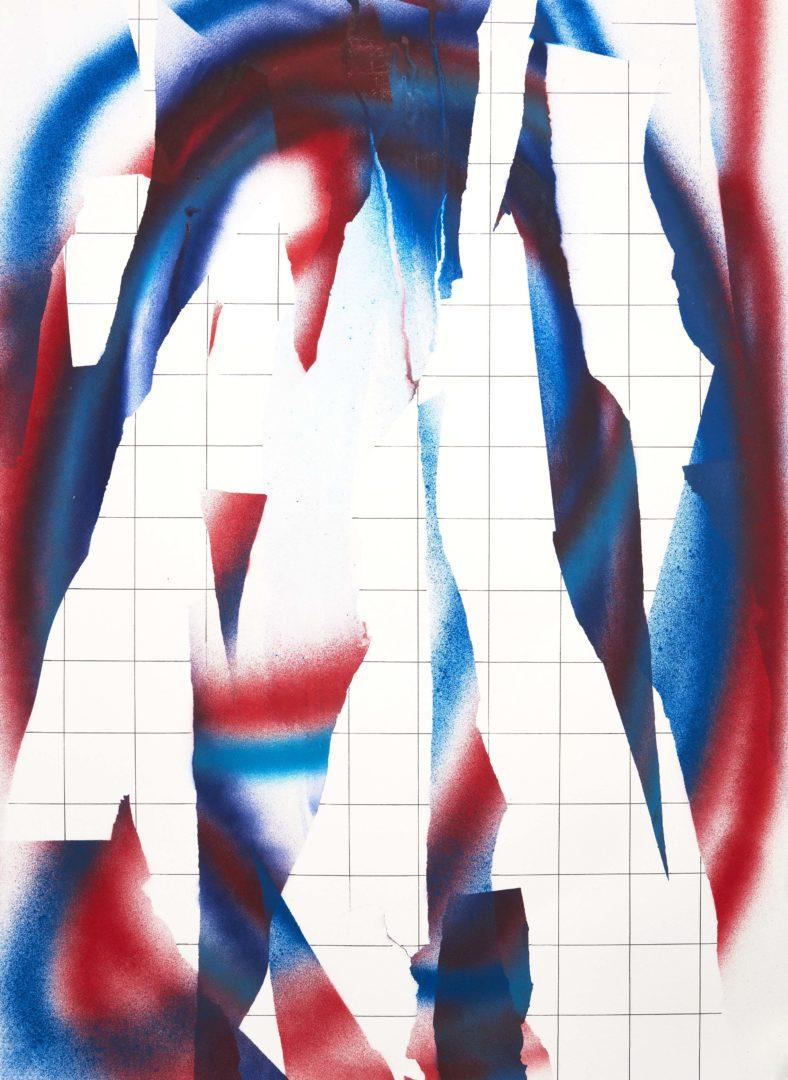 Op.271019. acrylic on paper, 70x50cm