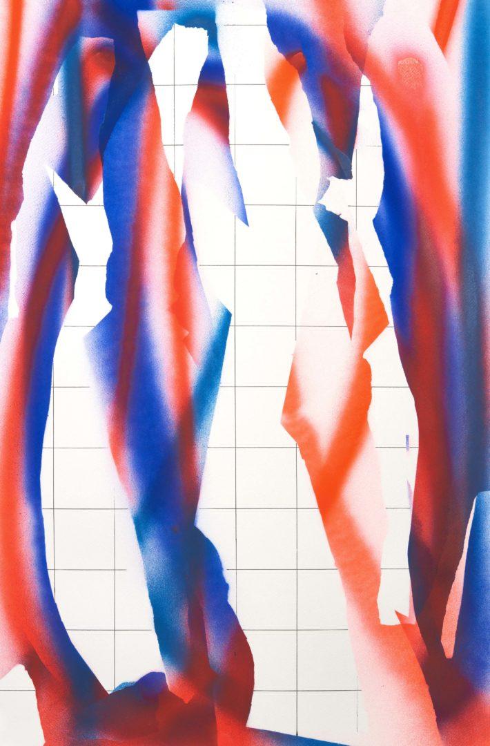 Op.301019. acrylic on paper, 75x50cm
