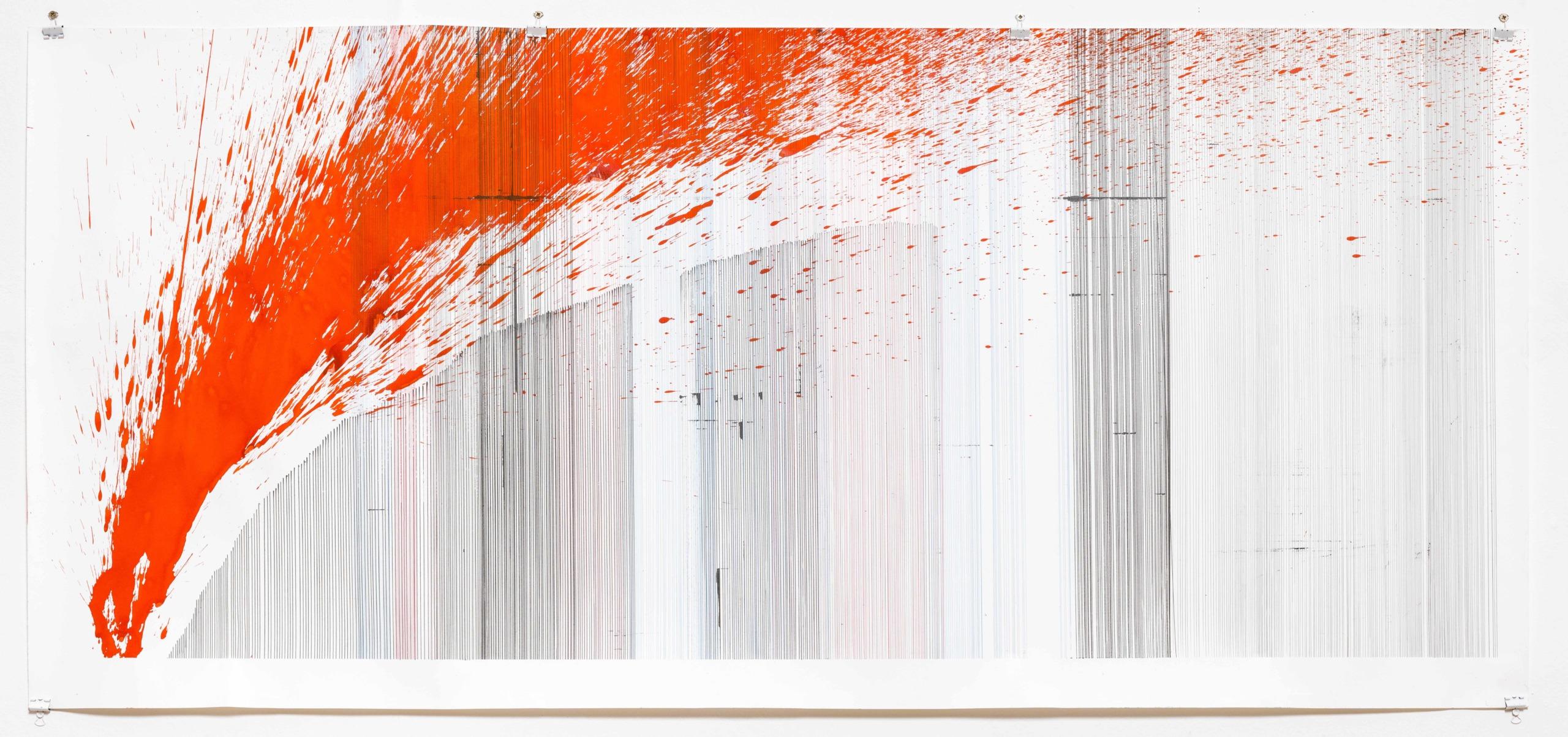 Op.101. ink on paper, 68x150 cm 2016