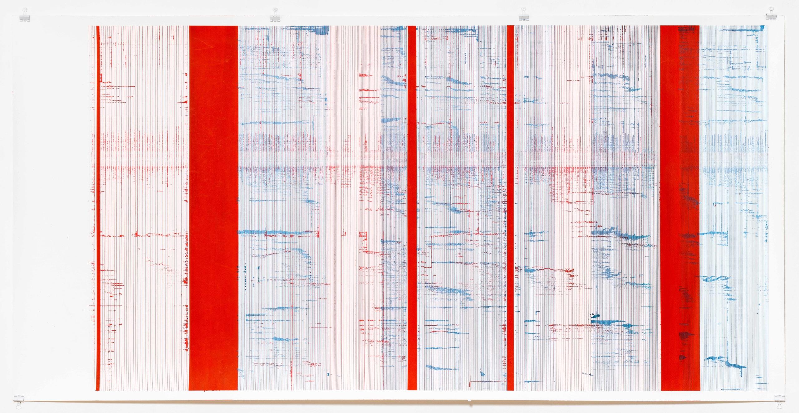 Op.128. ink on paper, paper 76x140 cm 2016