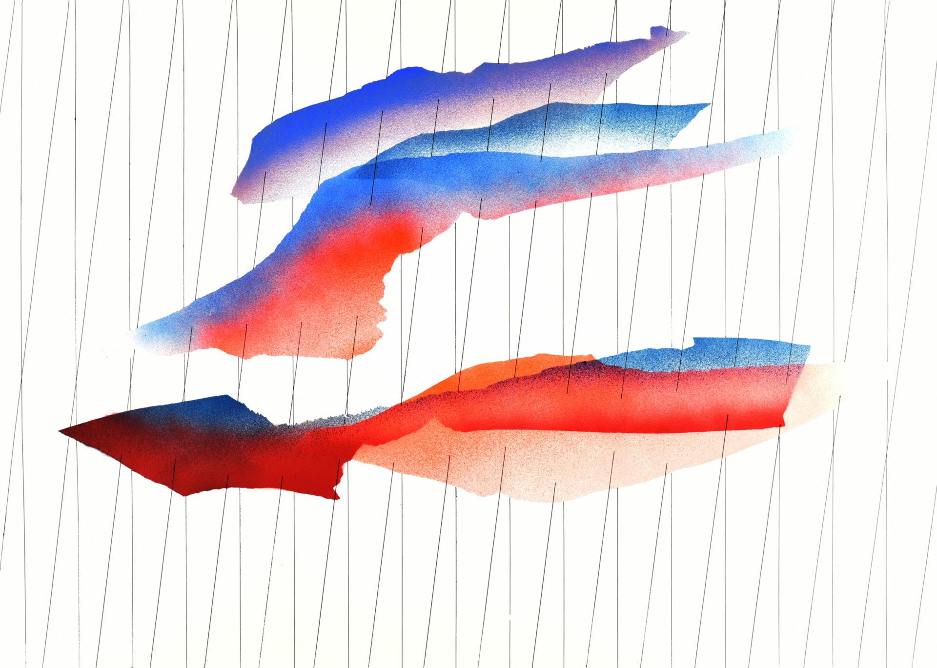 op061219 acrylic on paper, 105x75cm