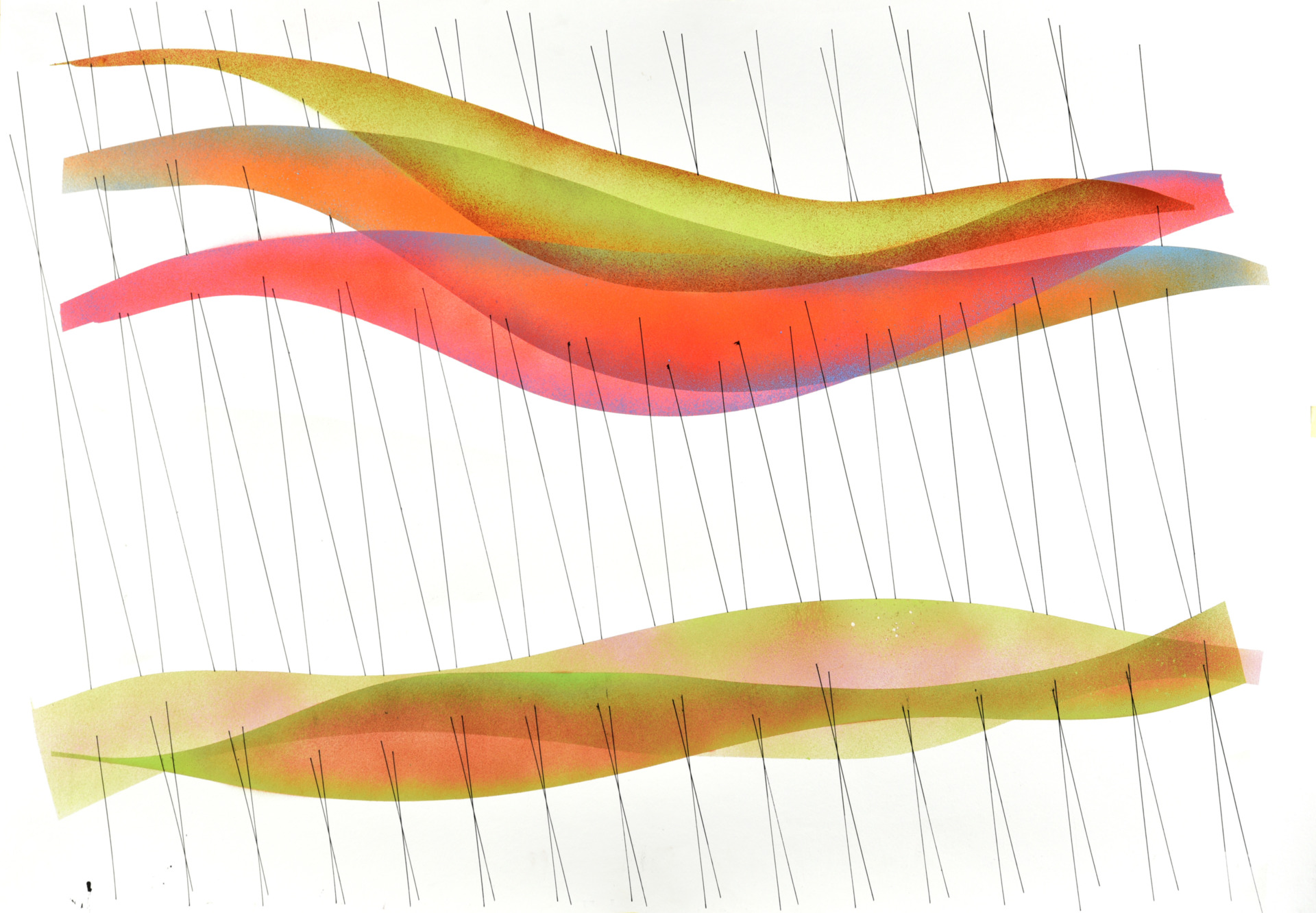 Op. 120120. acrylic on paper, 75 x 105cm, 2020