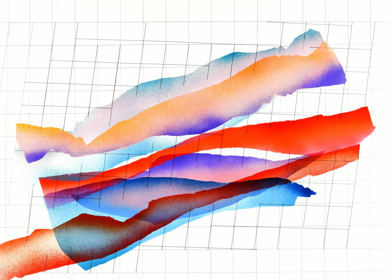 op161219. acrylic on paper, 75x105cm