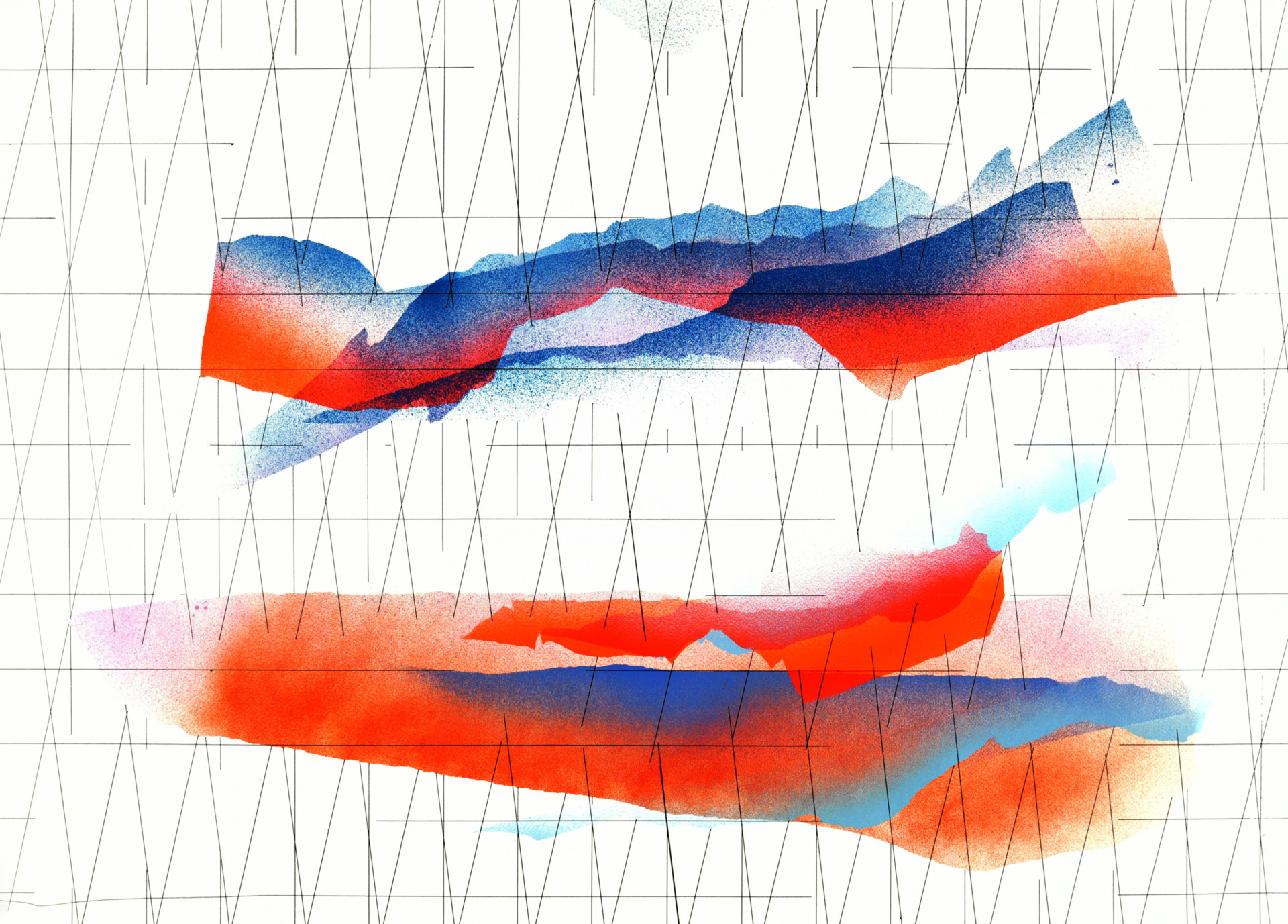 op. 211219. acrylic on paper, 75x105cm