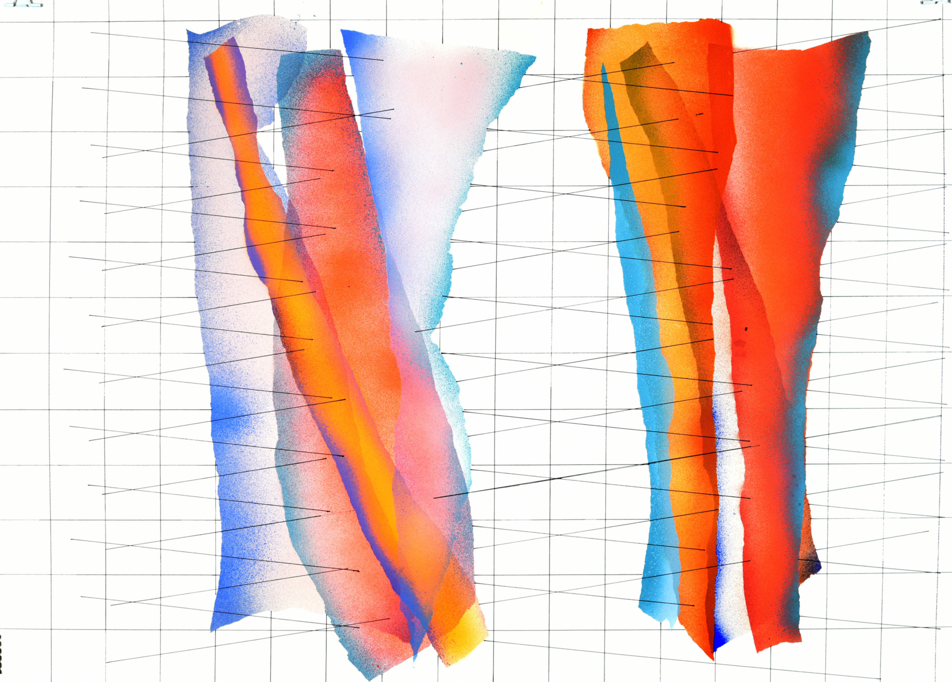 op. 231219. Acrylic on paper, 105 x 75 cm, 2019
