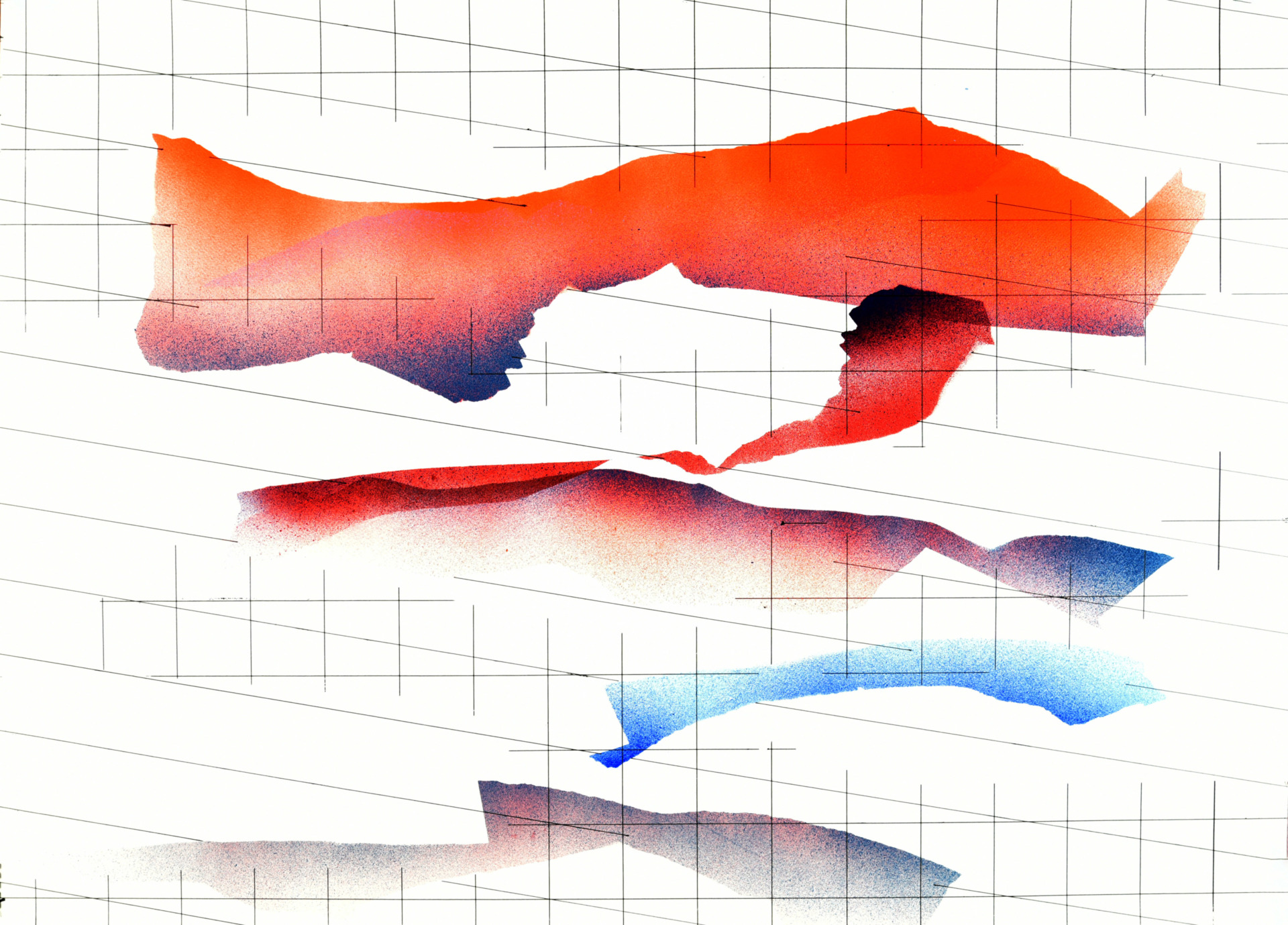 Op. 241119. Acrylic on paper, 105 x 75 cm, 2019
