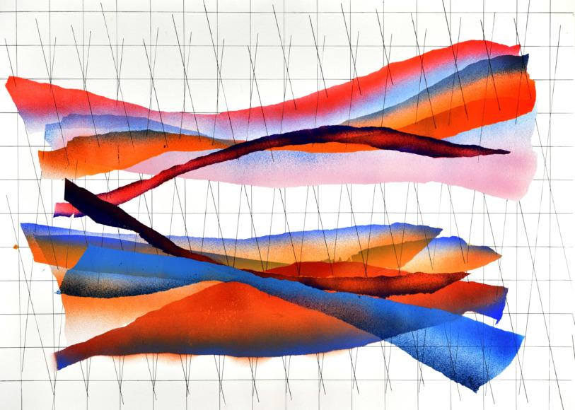op251219. acrylic on paper, 75x105cm