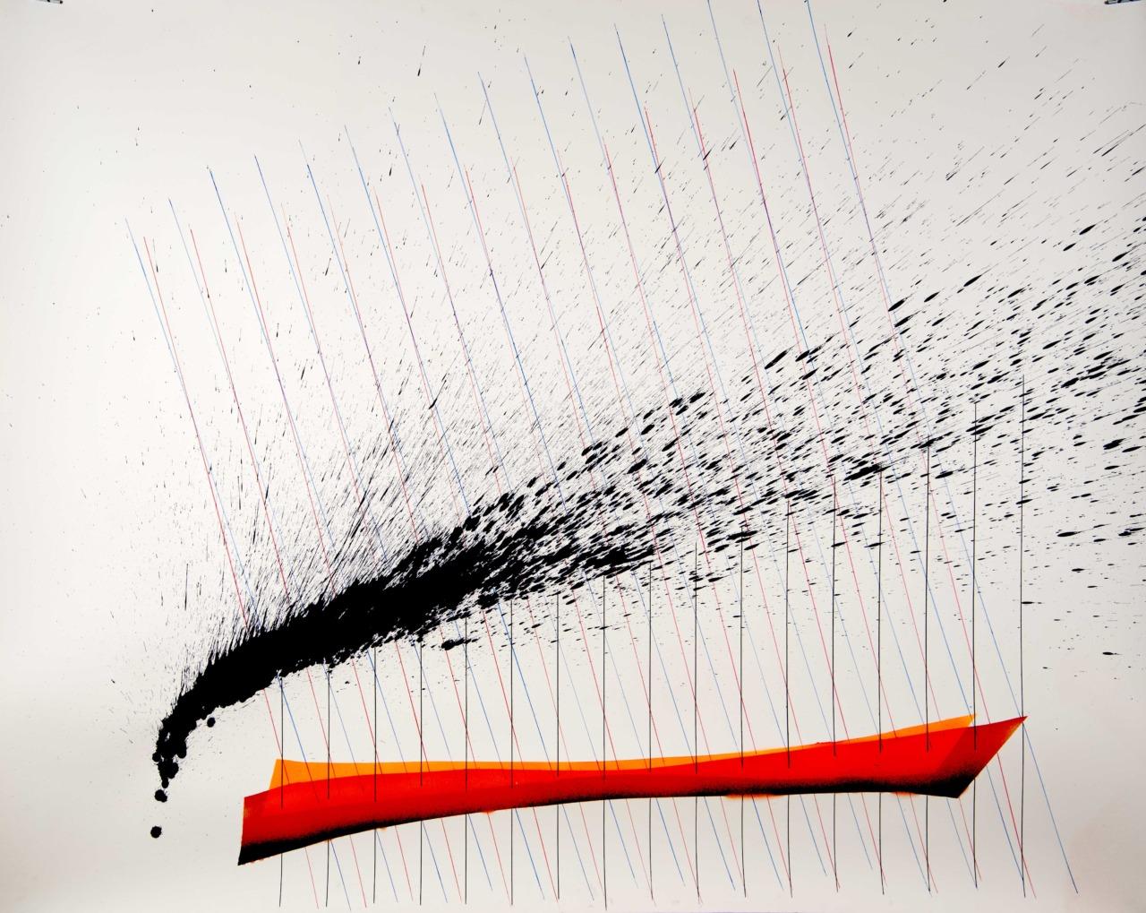 op280120. acrylic on paper 120x150cm