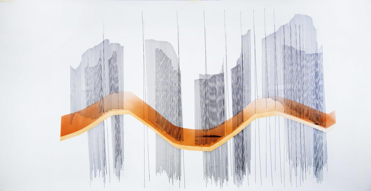 o1900420. acrylic on paper, 75x150cm