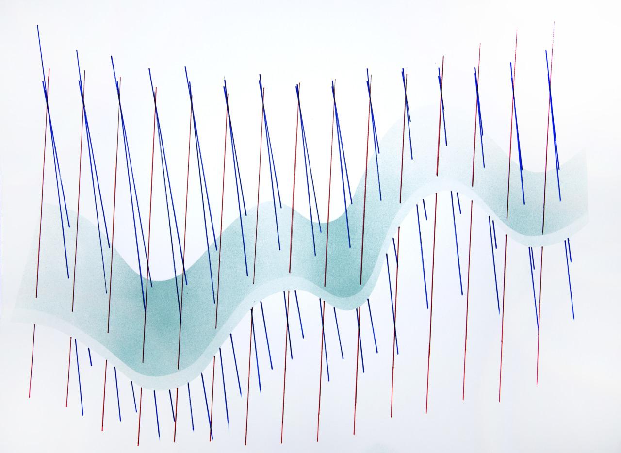 op100420 acrylic on paper, 75x105cm