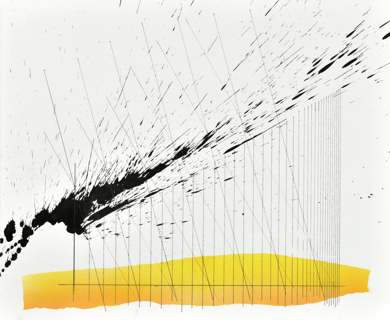 Op210520. Acrylic on paper, 37x46cm