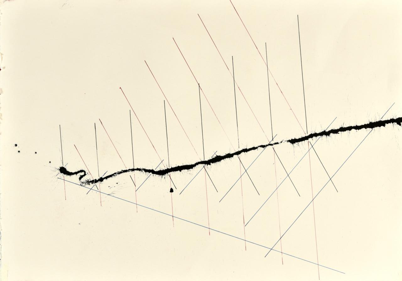 velocity series_01_ acrylic on paper, 70x50cm