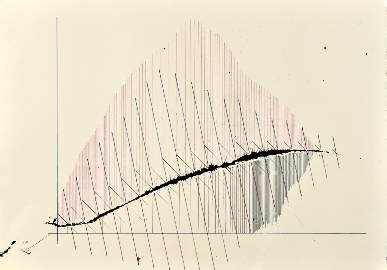 velocity series_02_ acrylic on paper, 70x50cm