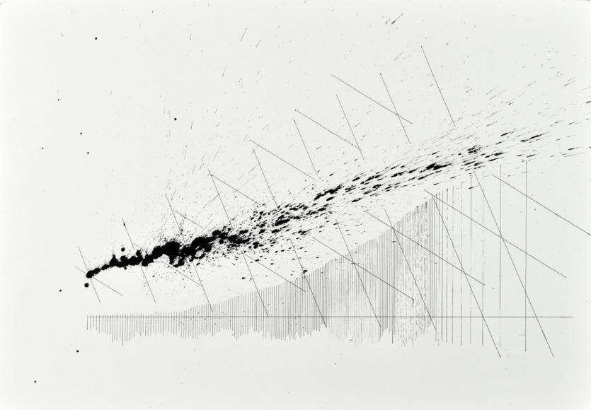 velocity series_03_ acrylic on paper, 70x50cm