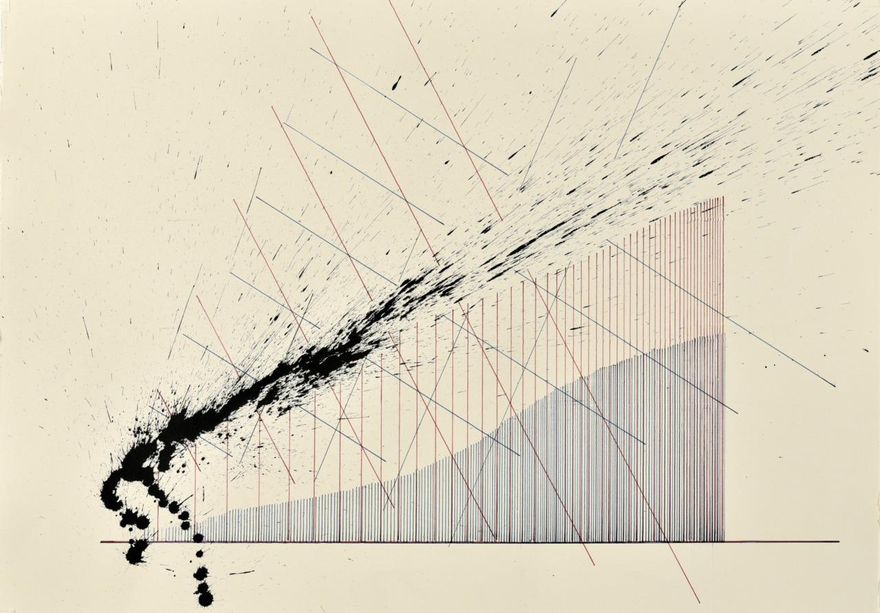 velocity series_04_ acrylic on paper, 70x50cm