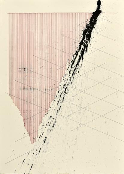velocity series_05_ acrylic on paper, 70x50cm