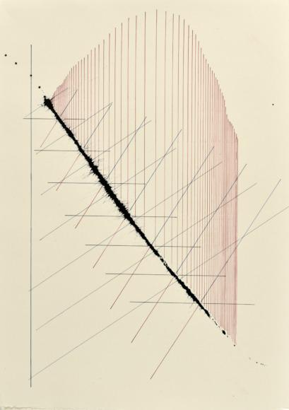 velocity series_08_ acrylic on paper, 70x50cm