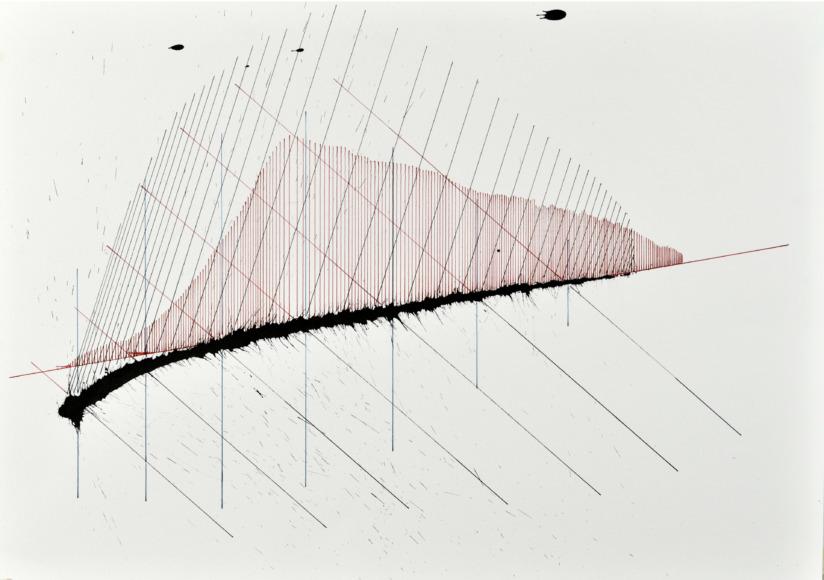 velocity series_09_ acrylic on paper, 70x50cm