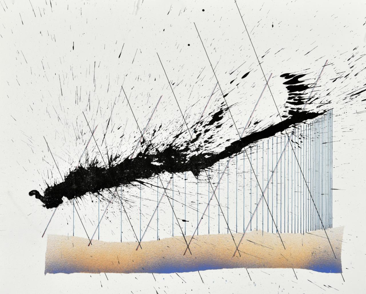 velocity series_10_ acrylic on paper, 40x50cm