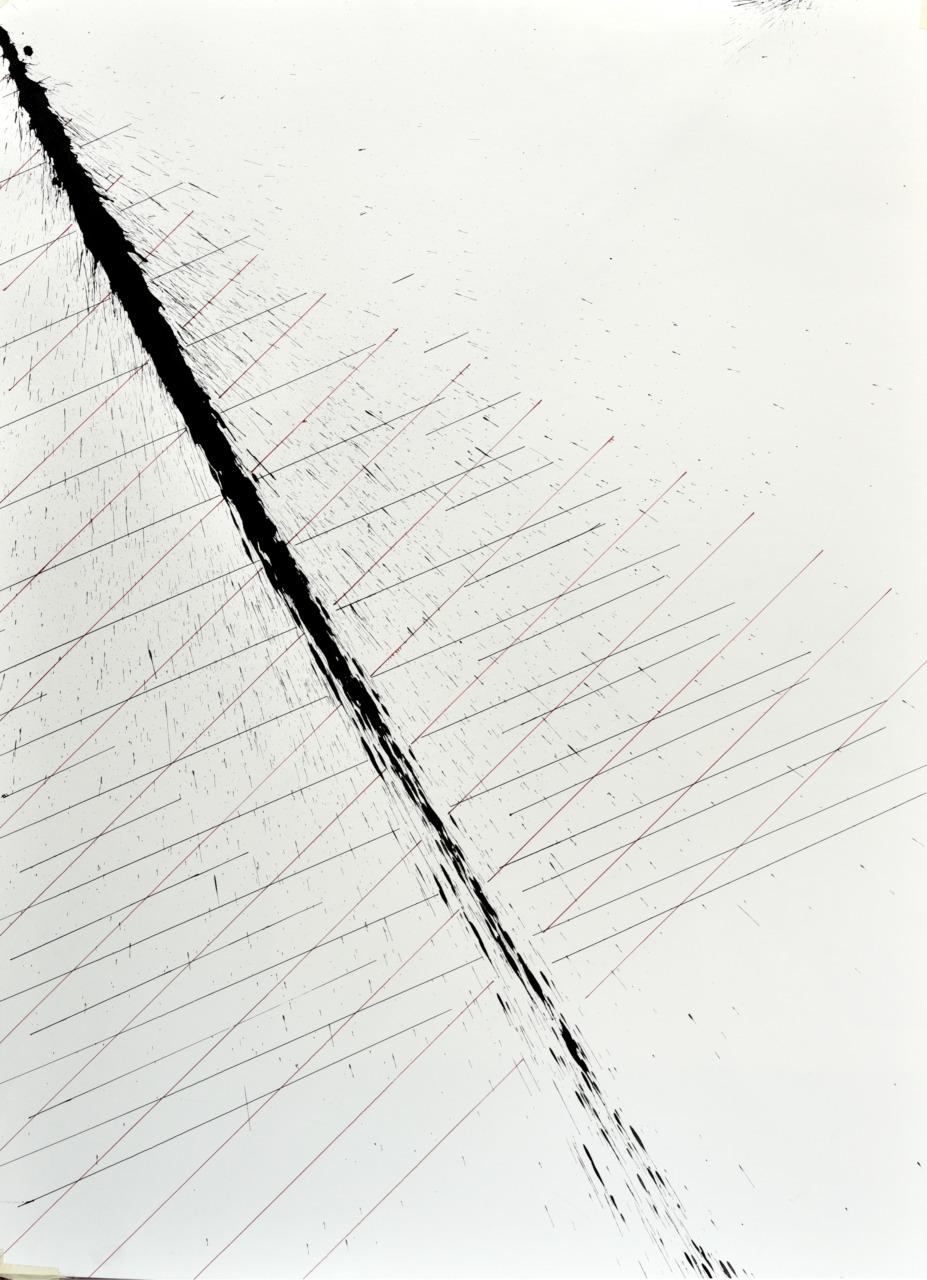 velocity series_12_ acrylic on paper, 105x75cm