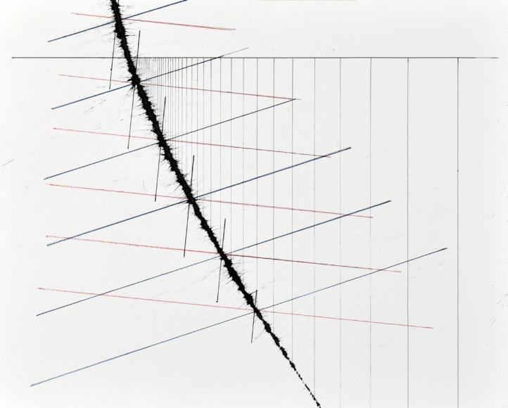 velocity series_13_ acrylic on paper, 40x50cm