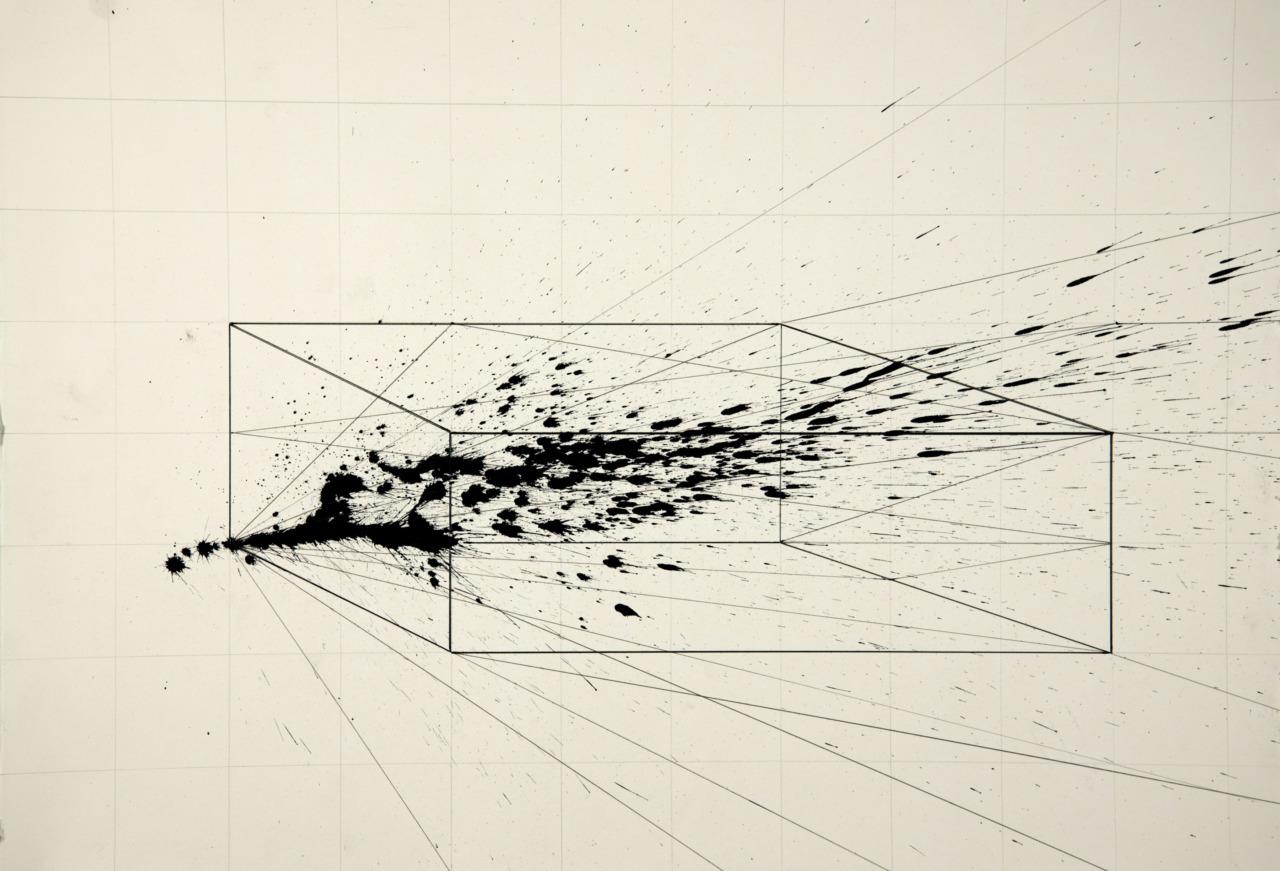 Gyula Sagi contemporary art, Berlin. Velocity analysis, vectors, gesture art, geometric art. Buy art online. Collect art. Art collection.