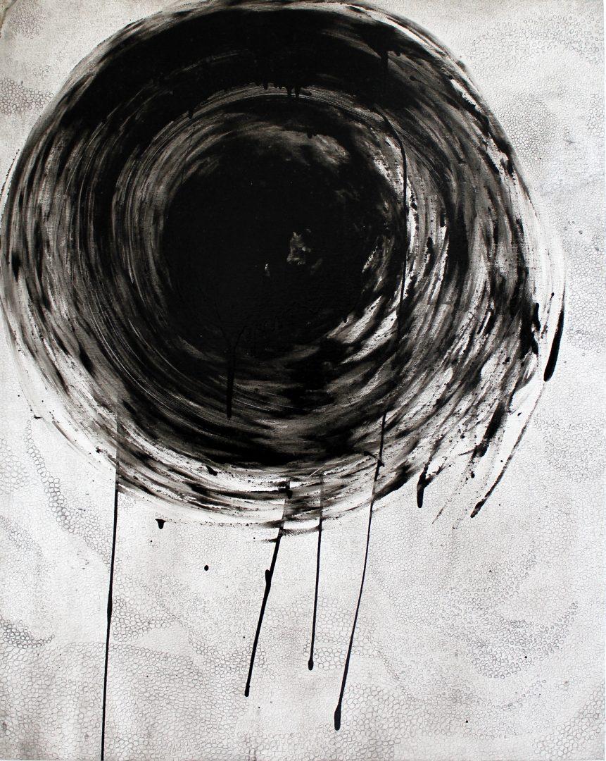 No 2. oil, pencil on canvas, 96x77cm
