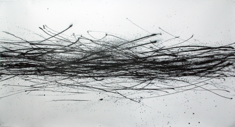 Op. 32. black ink on paper, 125×230 cm, SOLD