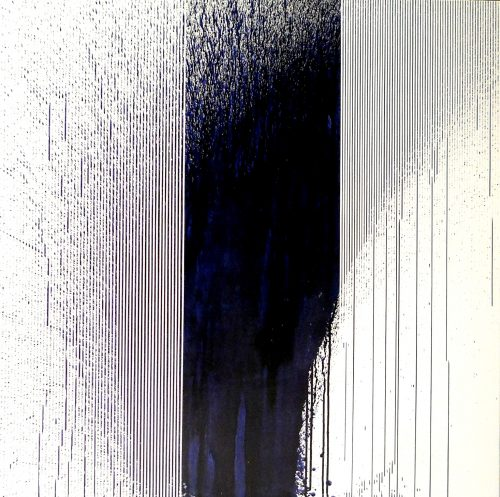 Op. 55. 100x100 cm, ink on canvas, sold