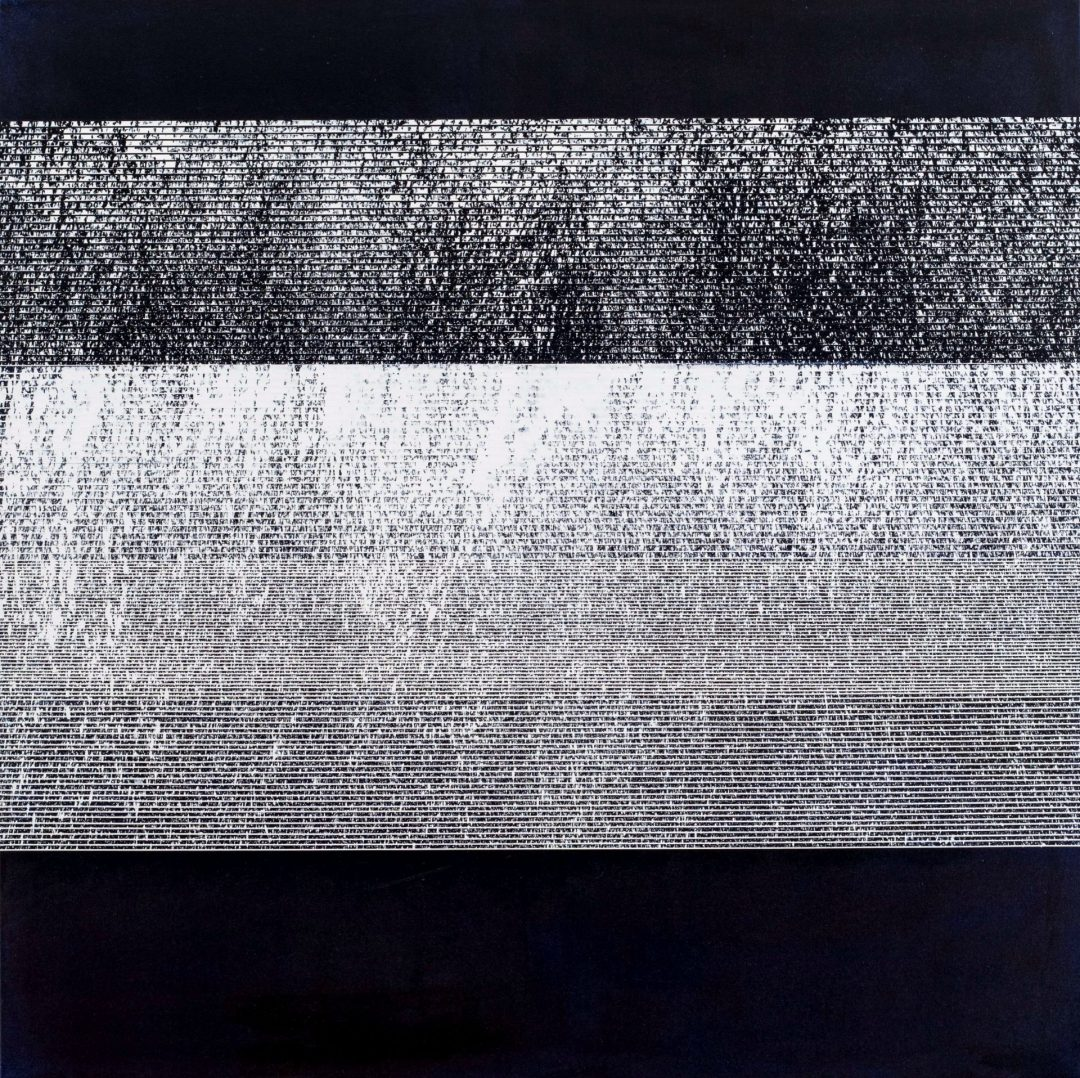 Op. 70. ink on canvas, 100x100cm