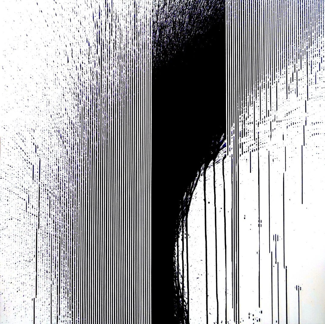 Op. 57. 100x100cm, ink on canvas