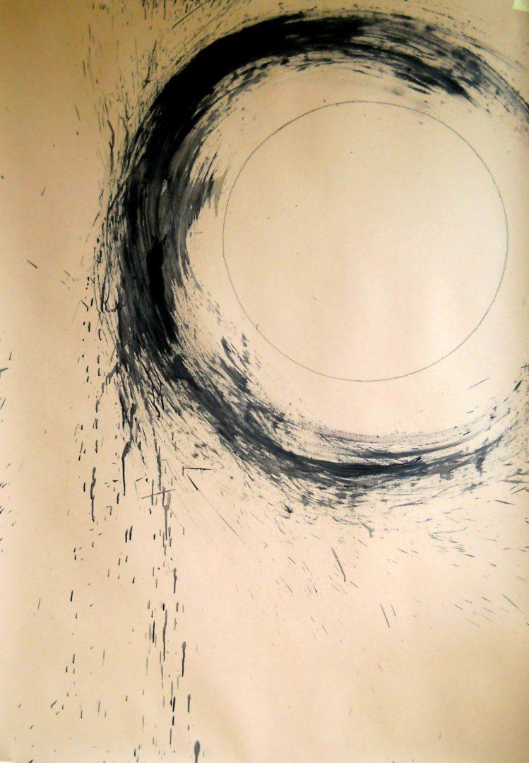 Op. 17. ink on paper, 100x160cm