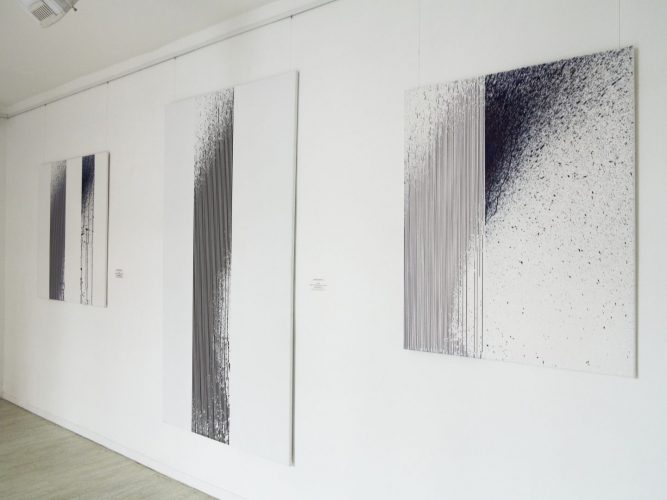 Exhibtiom interior Gallery Várfok, Budapest 2015